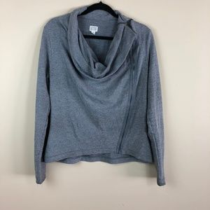 Converse Side Zip Sweater Grey Size Large